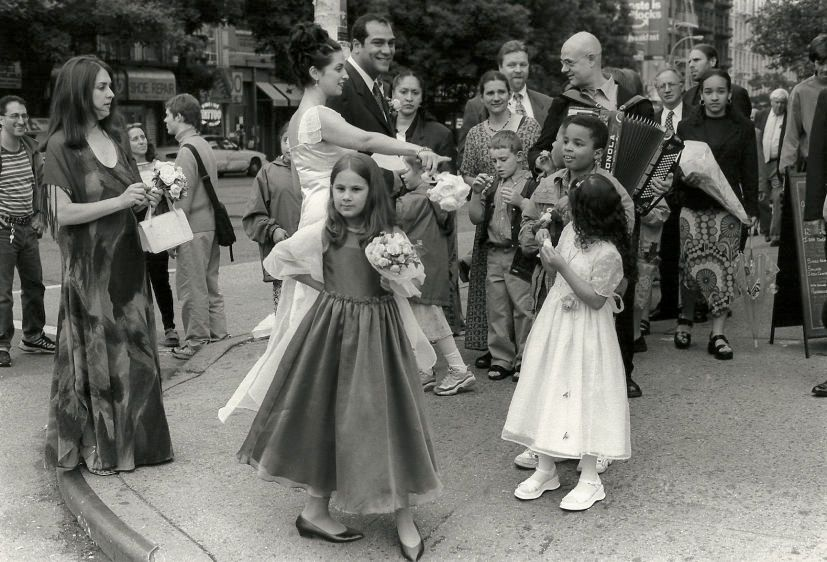 Flower girl, Mulberry Street, 2001