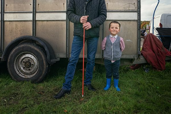 Nigel and his Dad - Irish Travellers