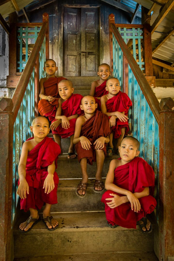 Novice Monks on Steps - Myanmar copy.jpg