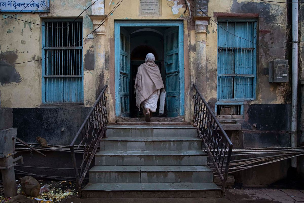 4-Widow Entering Ashram in Vrindavan.jpg
