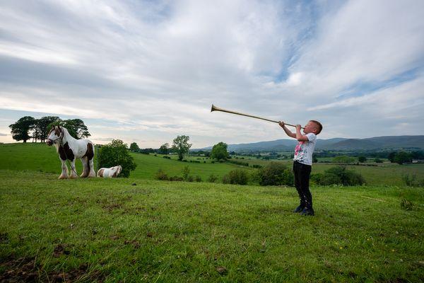 Irish Traveller Trumpeter Boy - Appleby UK