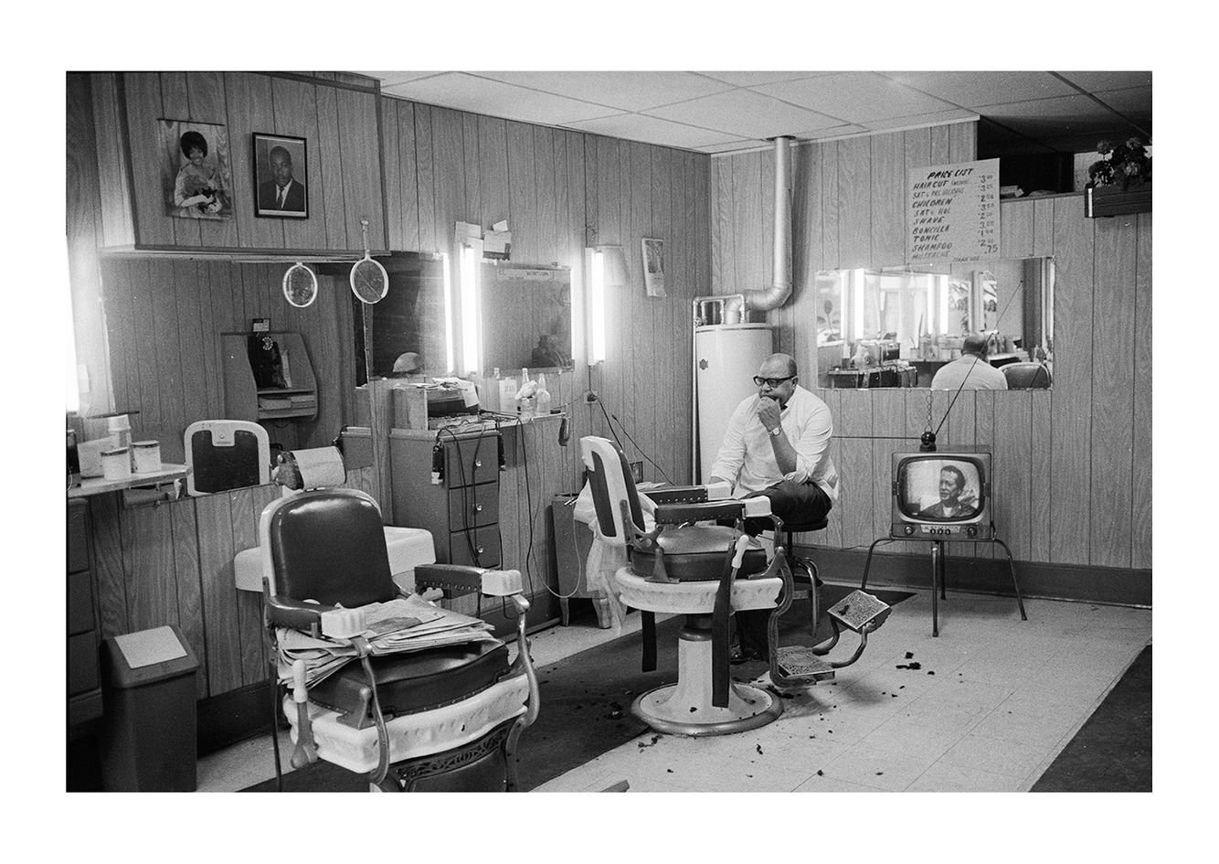 Joe, Joe's Barbershop, 7704 Oakland, Detroit 1972