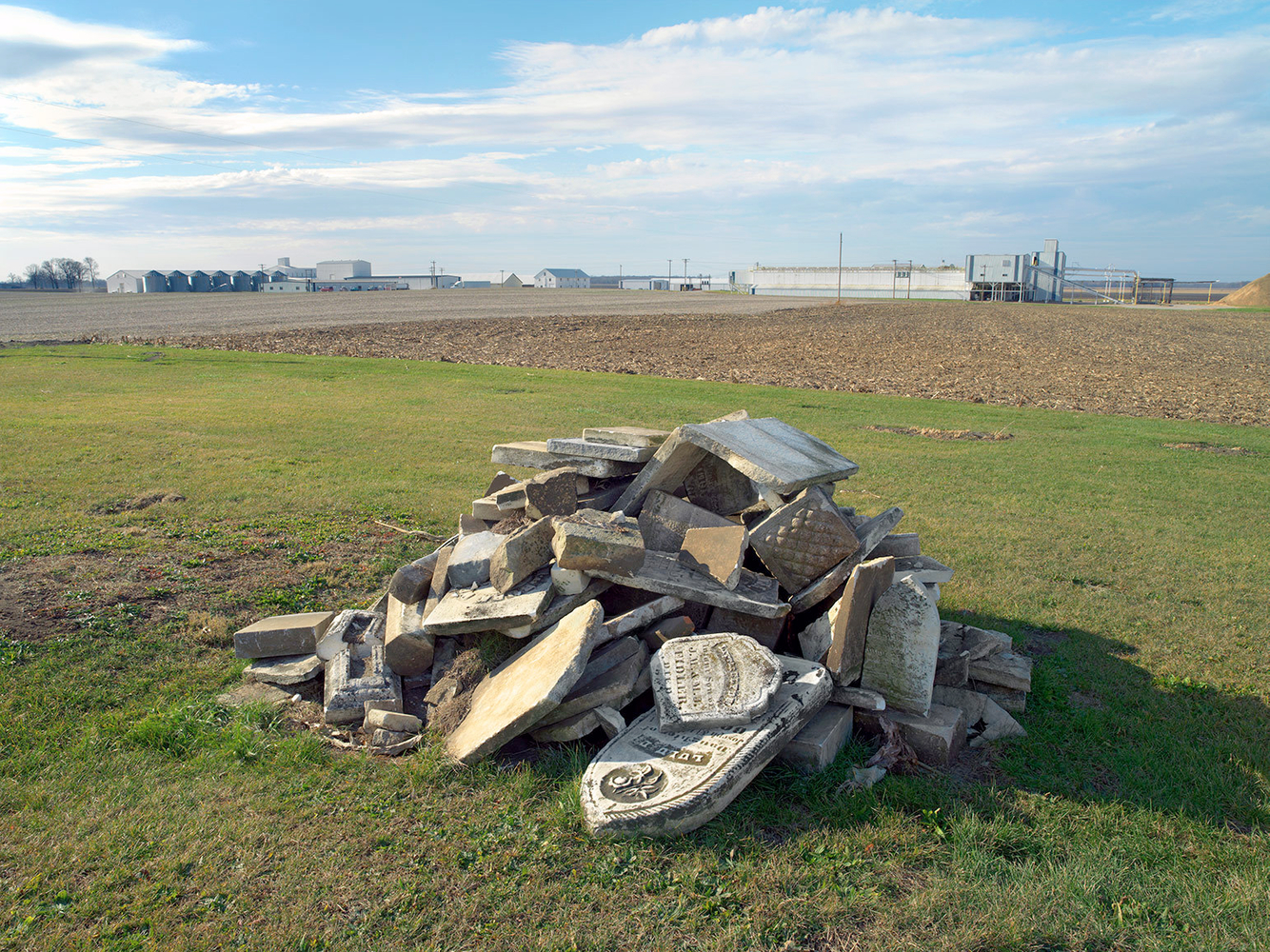 Piled Gravestones, near Milford, IL 2006