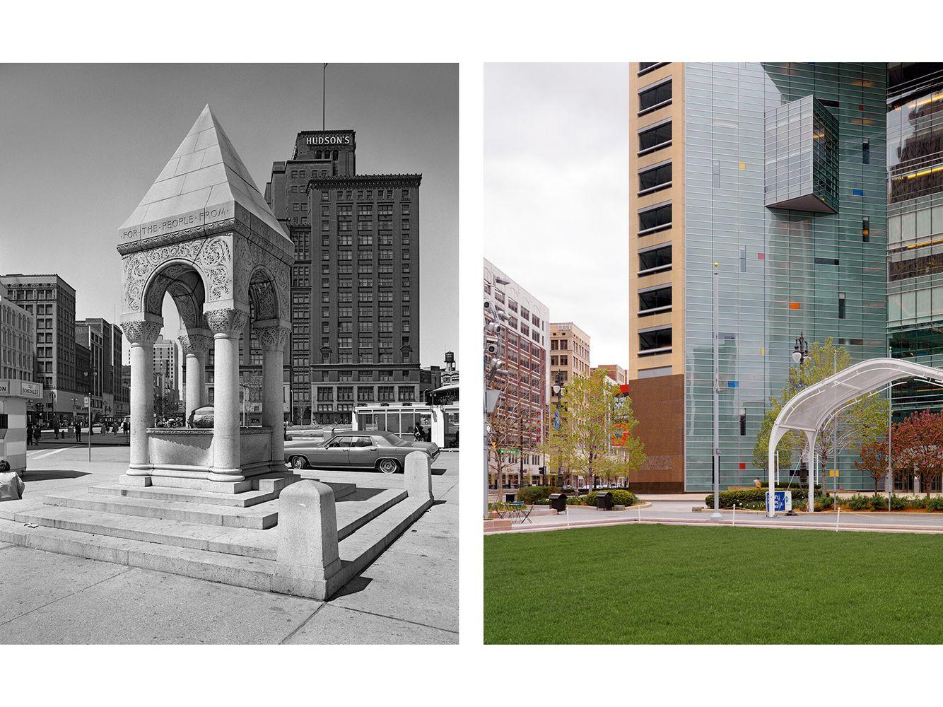 John Bagley Memorial, Campus Martius, Detroit 1973-2010