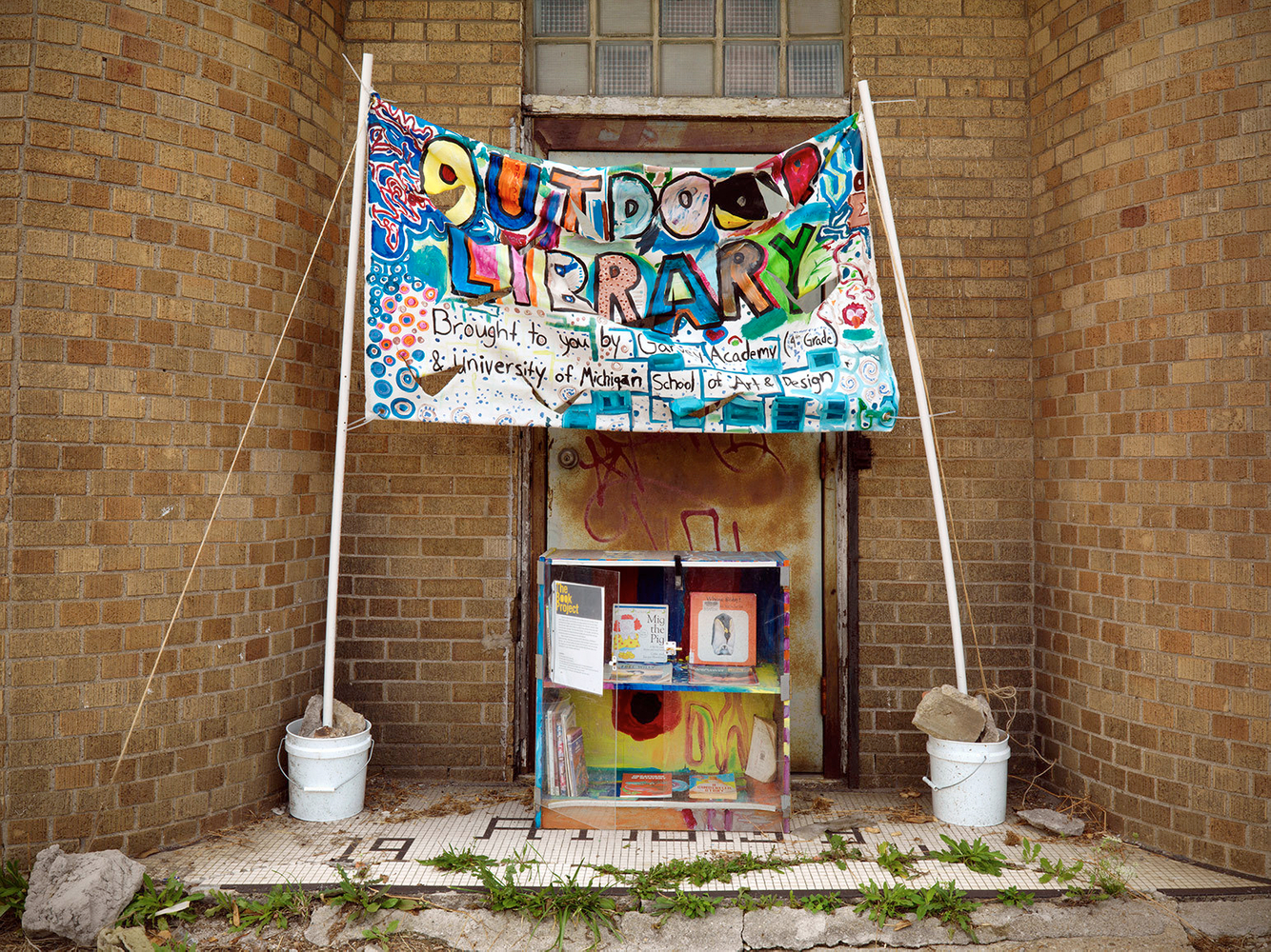 Outdoor Pop-Up Library, Free Books, Conant Street, Detroit 2012