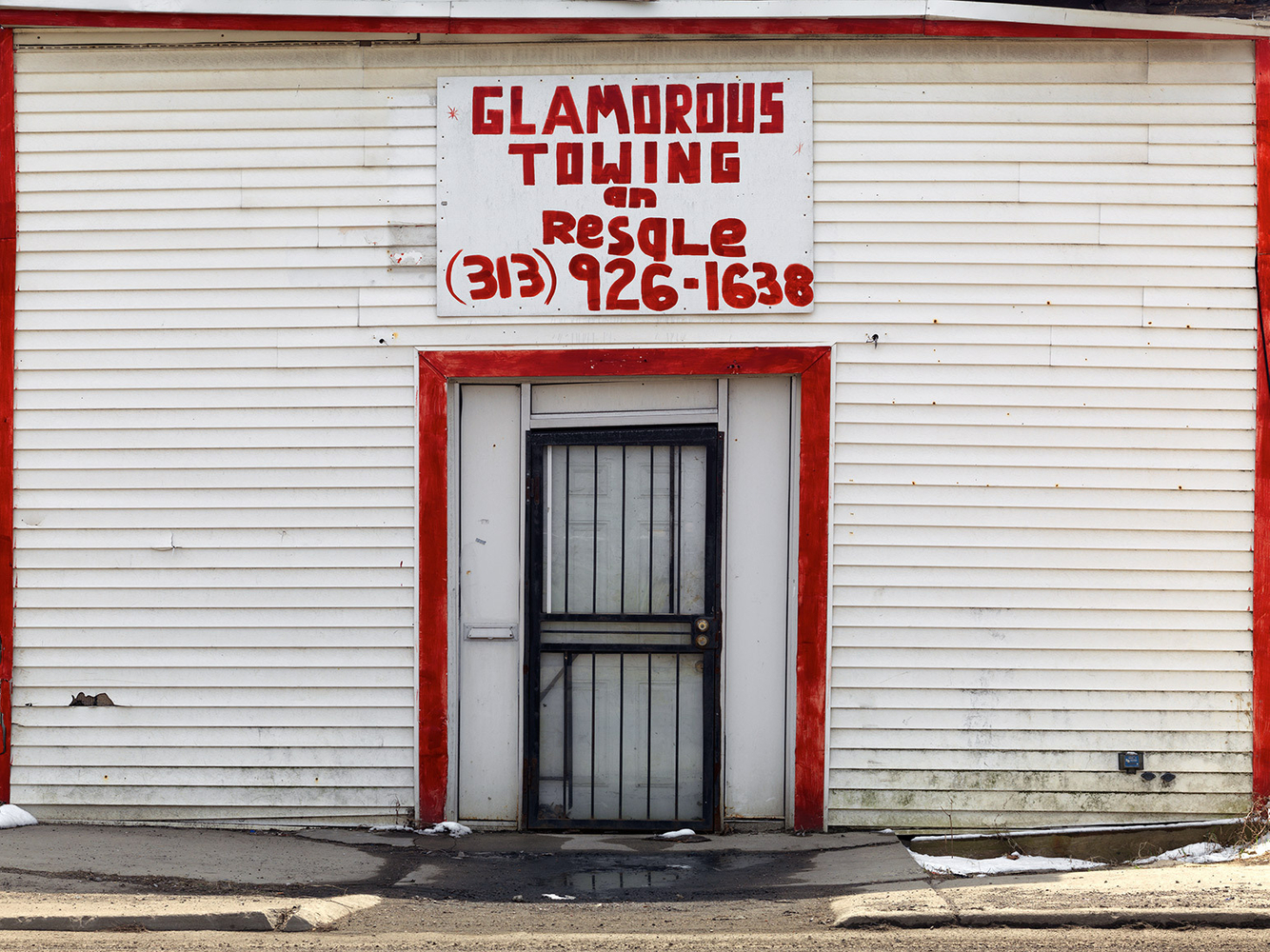Hand Painted Business Signage, Brightmoor Neighborhood, Detroit 2014