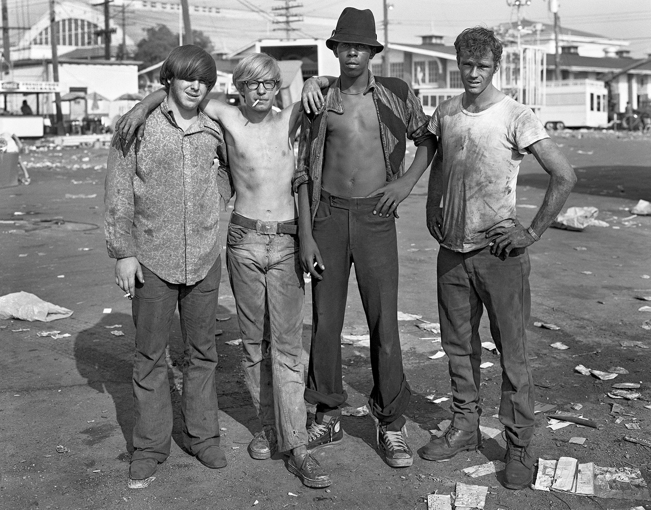 Carney Workers, Michigan State Fairgrounds, Detroit, 4 Sept. 1973