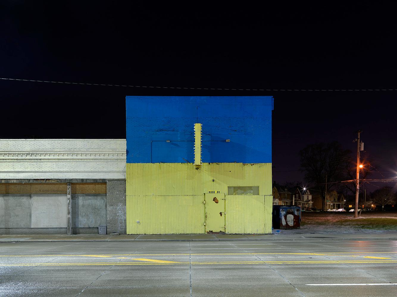 Blue-Green Facade, Gratiot Ave., Detroit 2016