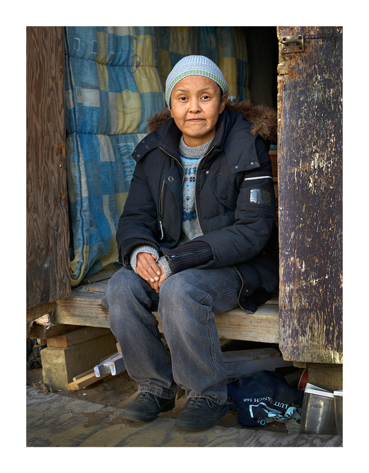 Amy Sitting in Her Shed, Iqaluit, Canada 2016