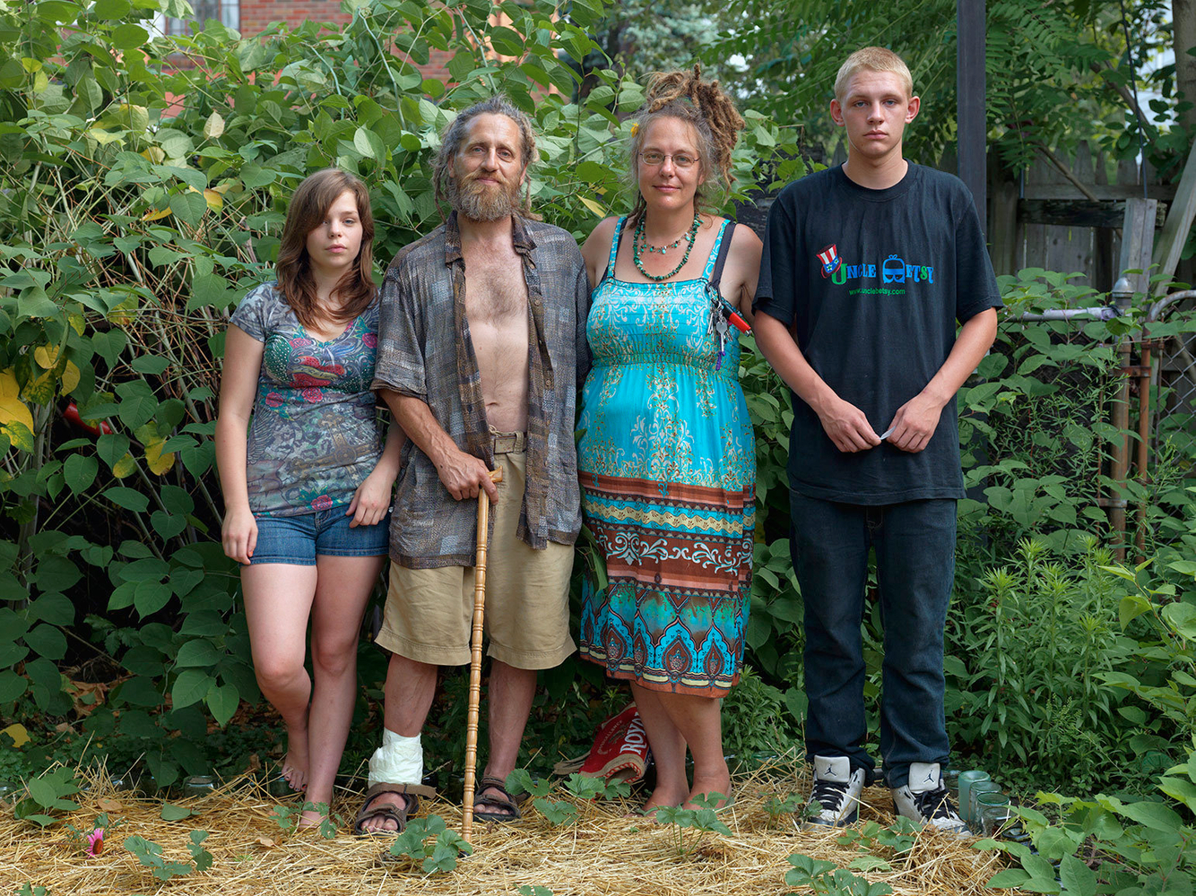 Mary, Jonah, Claire and Rodney, Goldengate Street Residents, Detroit 2012