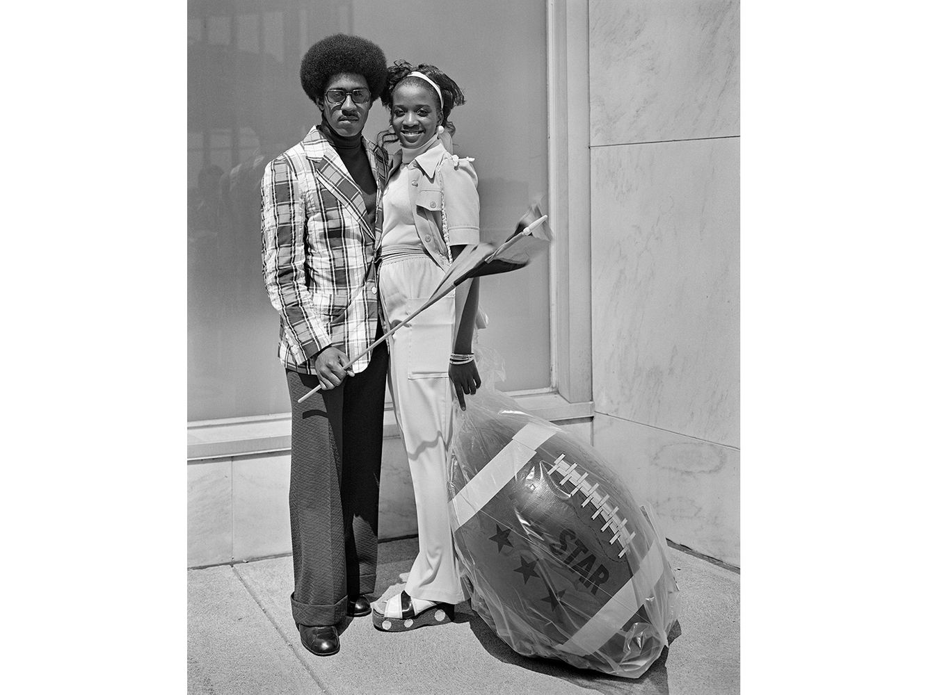 A Black Couple with Carnival Prizes, Detroit 1973