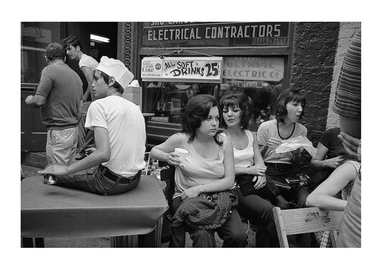 A Group at a Greek Festival, Greektown, Detroit 1972