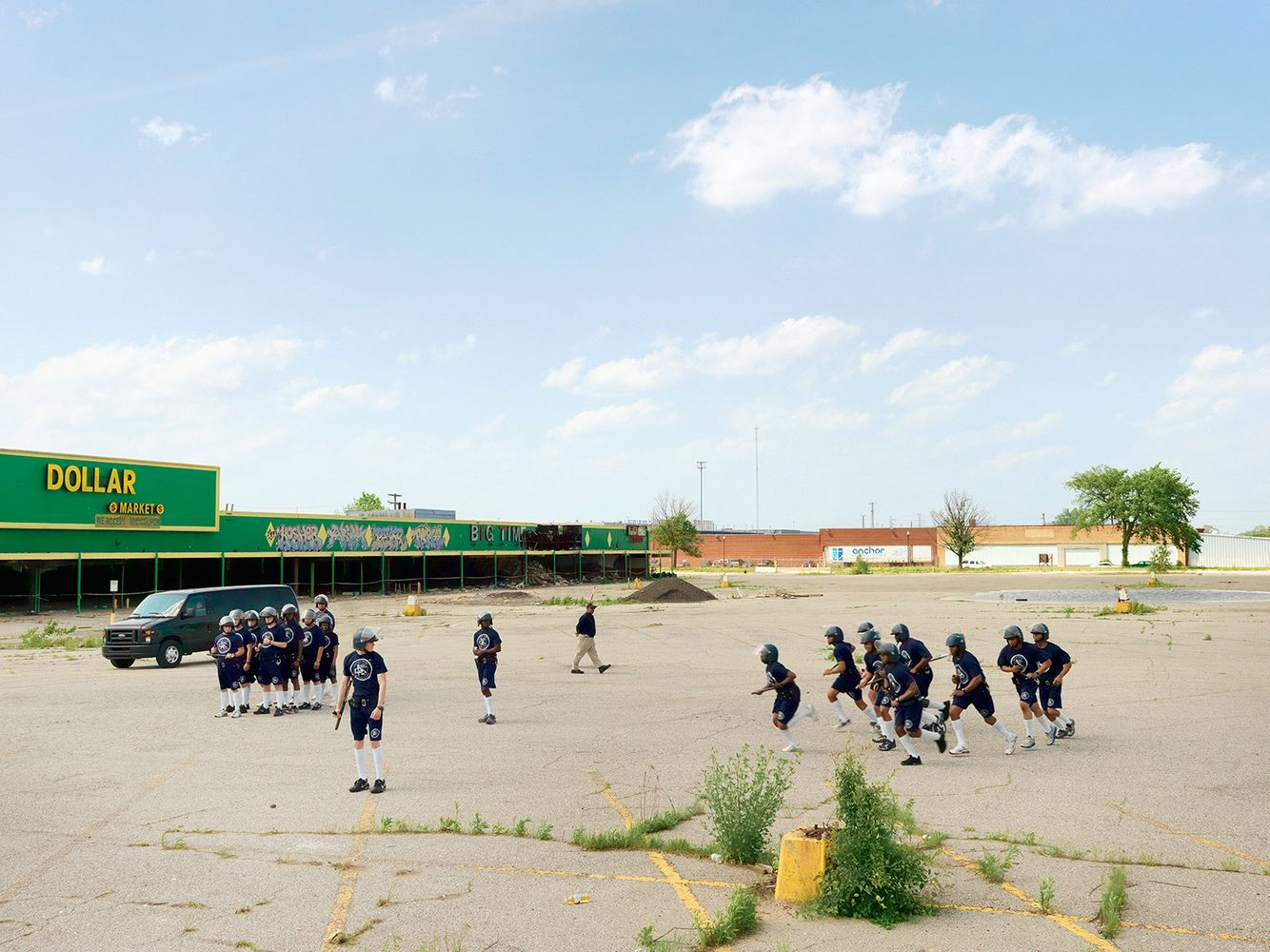 Police Cadet Riot Control Training, Eastside, Detroit 2011