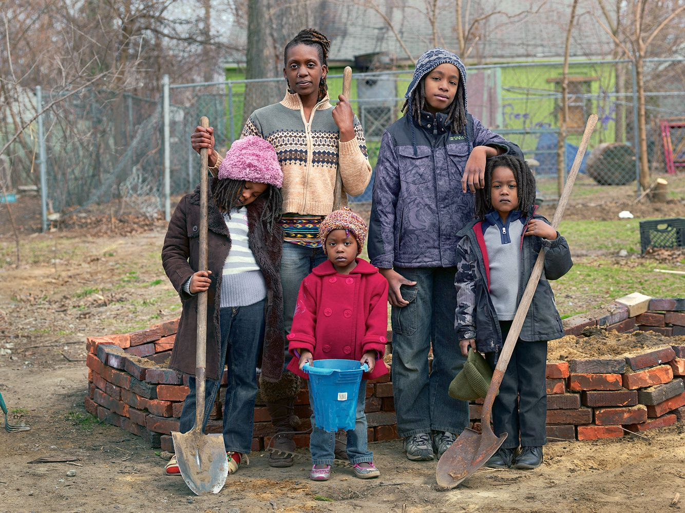 Tissheama, Jediah, Nirel, Anya, and Dah'Wu, Goldengate Street Residents, Detroit 2013