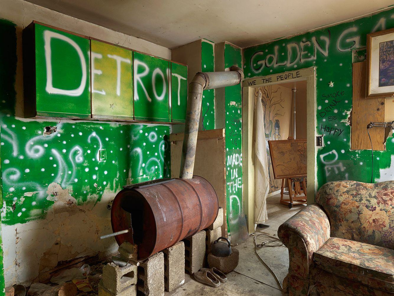 Interior View, Beezy's House, Goldengate Street, Detroit 2013