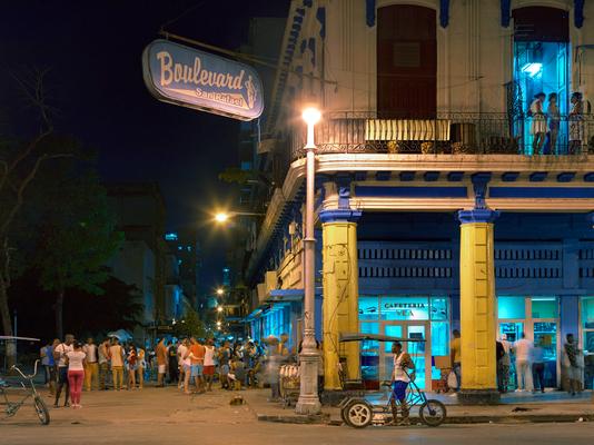 Internet Hot Spot, Old Havana, Cuba 2016