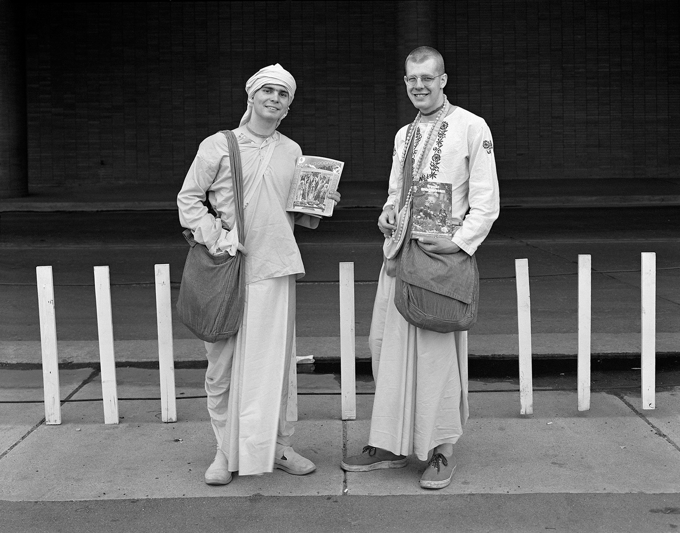 Two Hari Krishnas, Detroit, 28 May 1973