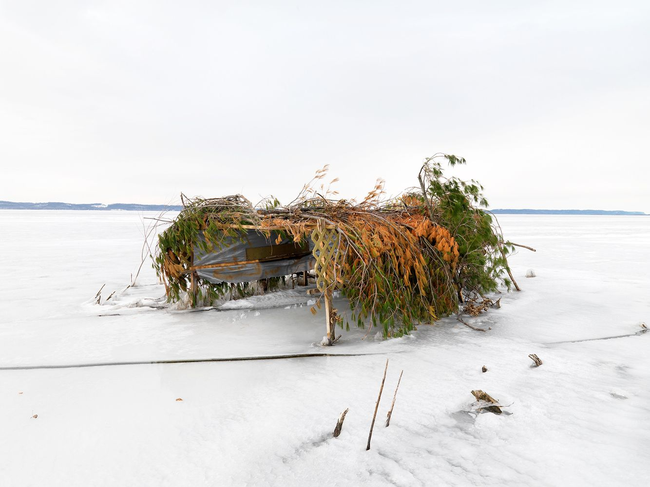 Duck Blind #16, Mississippi River, Northwest Illinois 2008