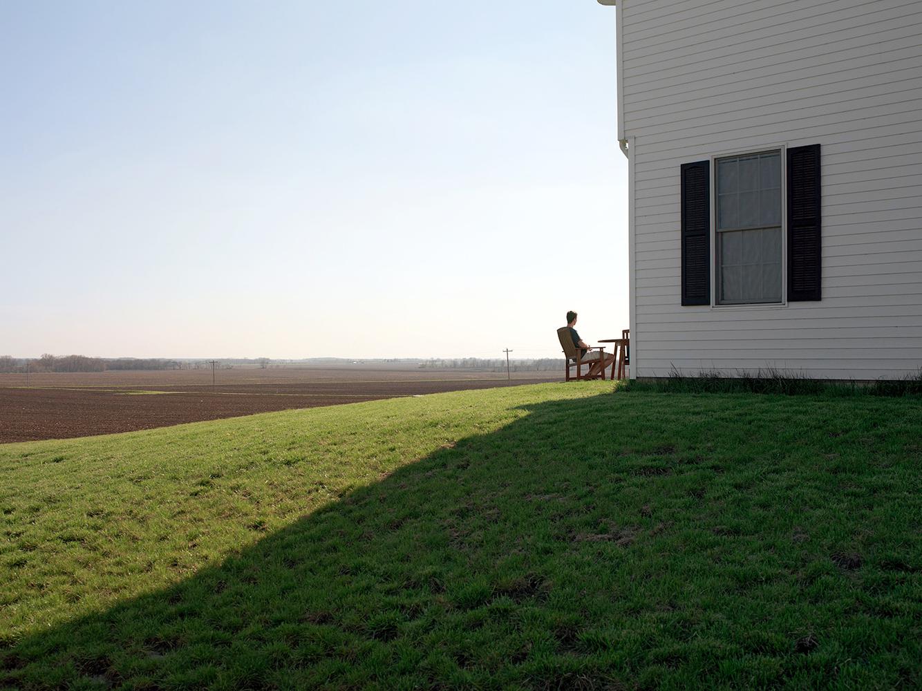 New House Flanking Farmland, near Burlington, IL 2007