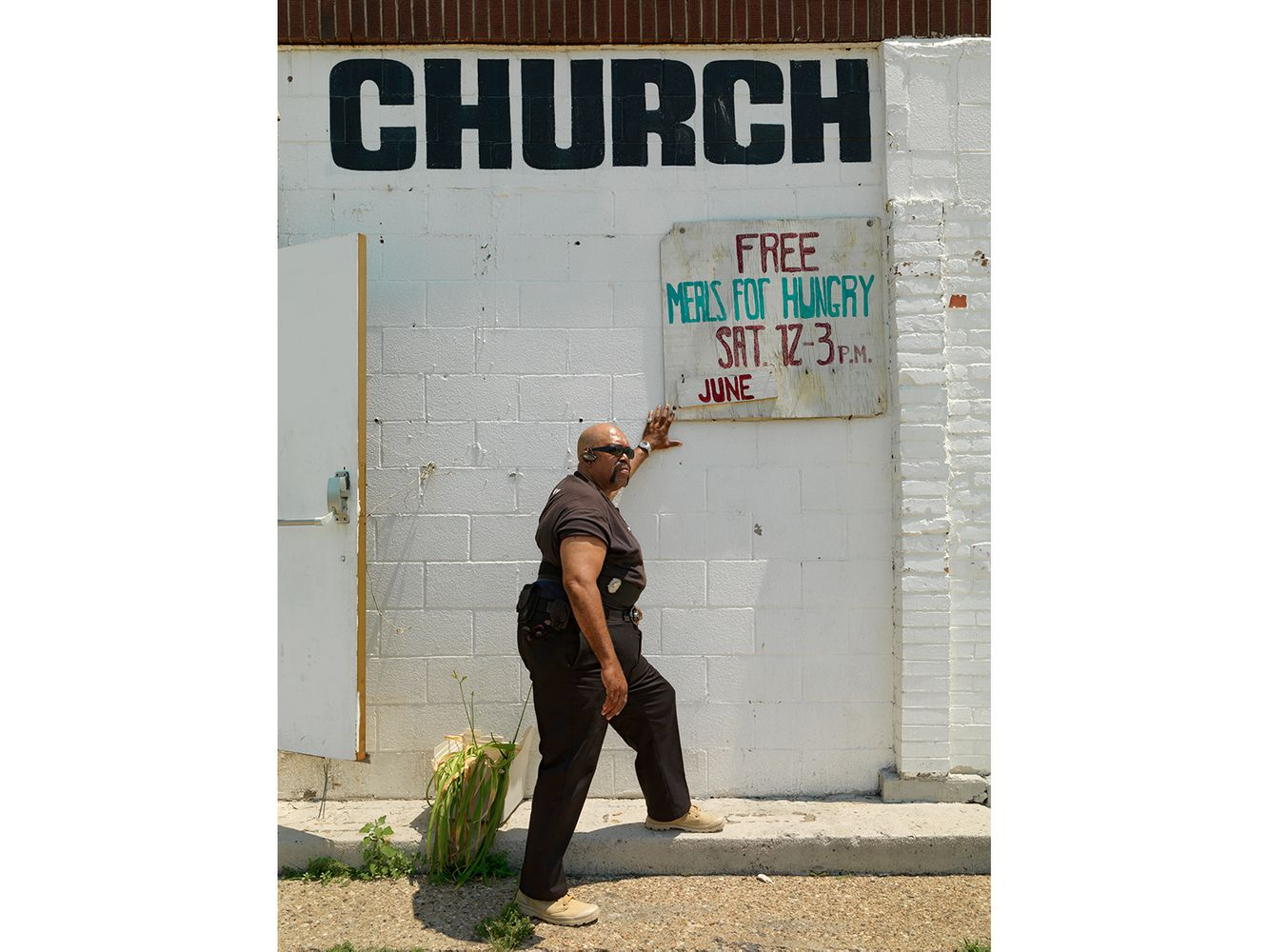 Danny, Church Security Guard on Van Dyke St., Eastside, Detroit 2013