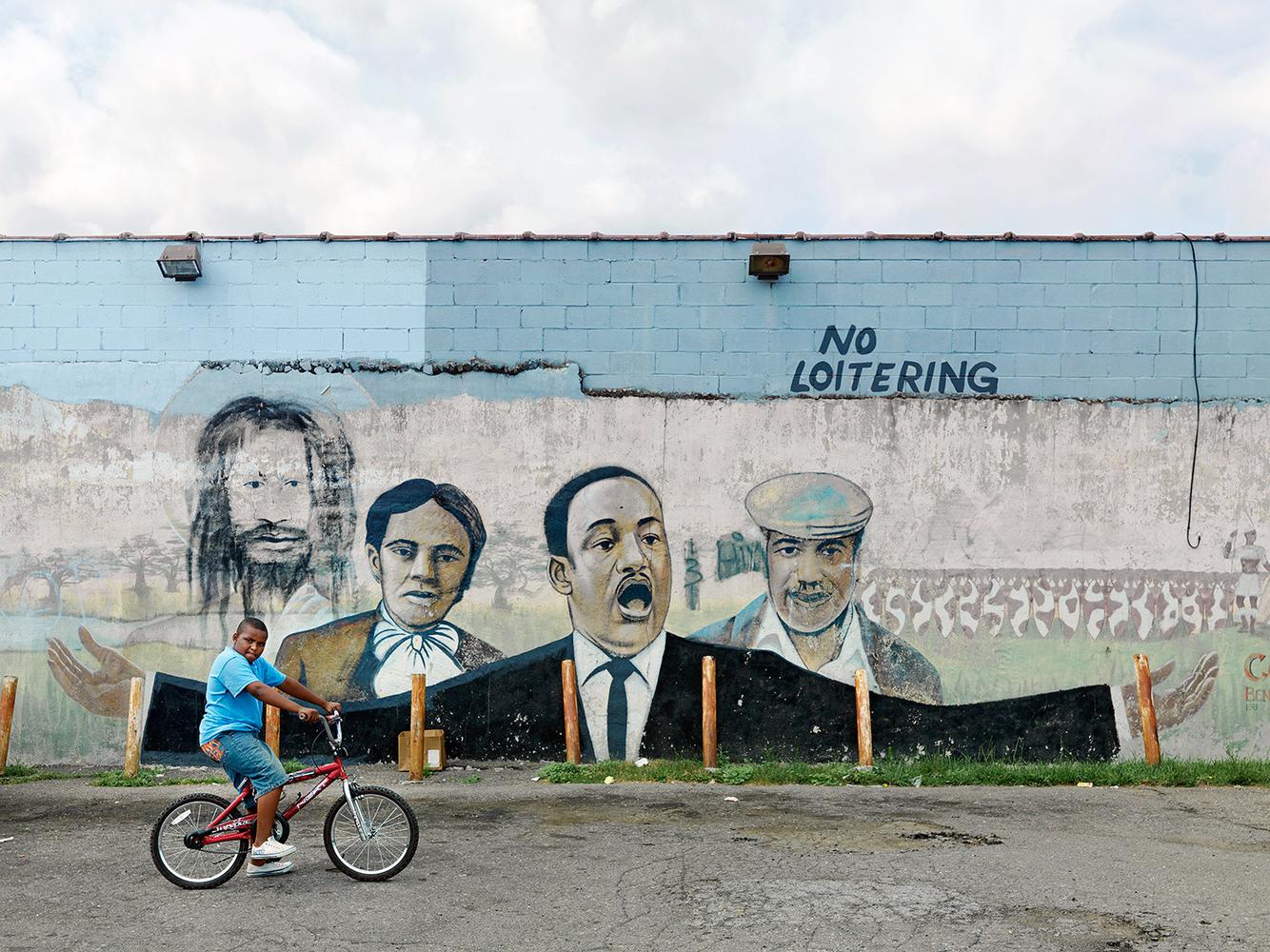 Amahni and Wall Mural, East Warren Avenue, Eastside, Detroit 2010