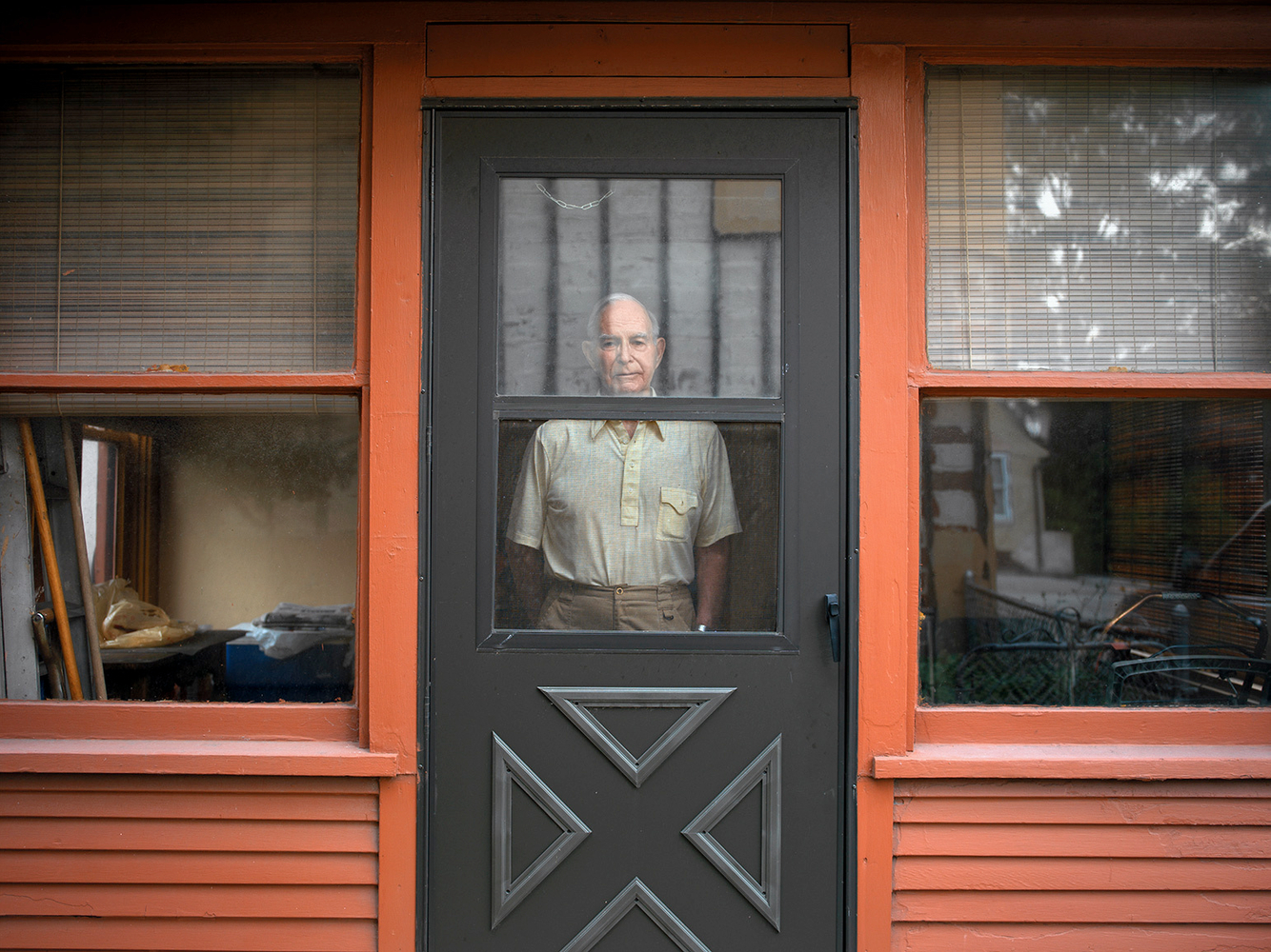 Lee in His Doorway, Marktown, East Chicago, IN 2003