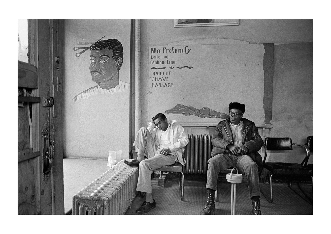 Paul's Barbershop, Waiting for a Customer, 2611 John R, Detroit 1972