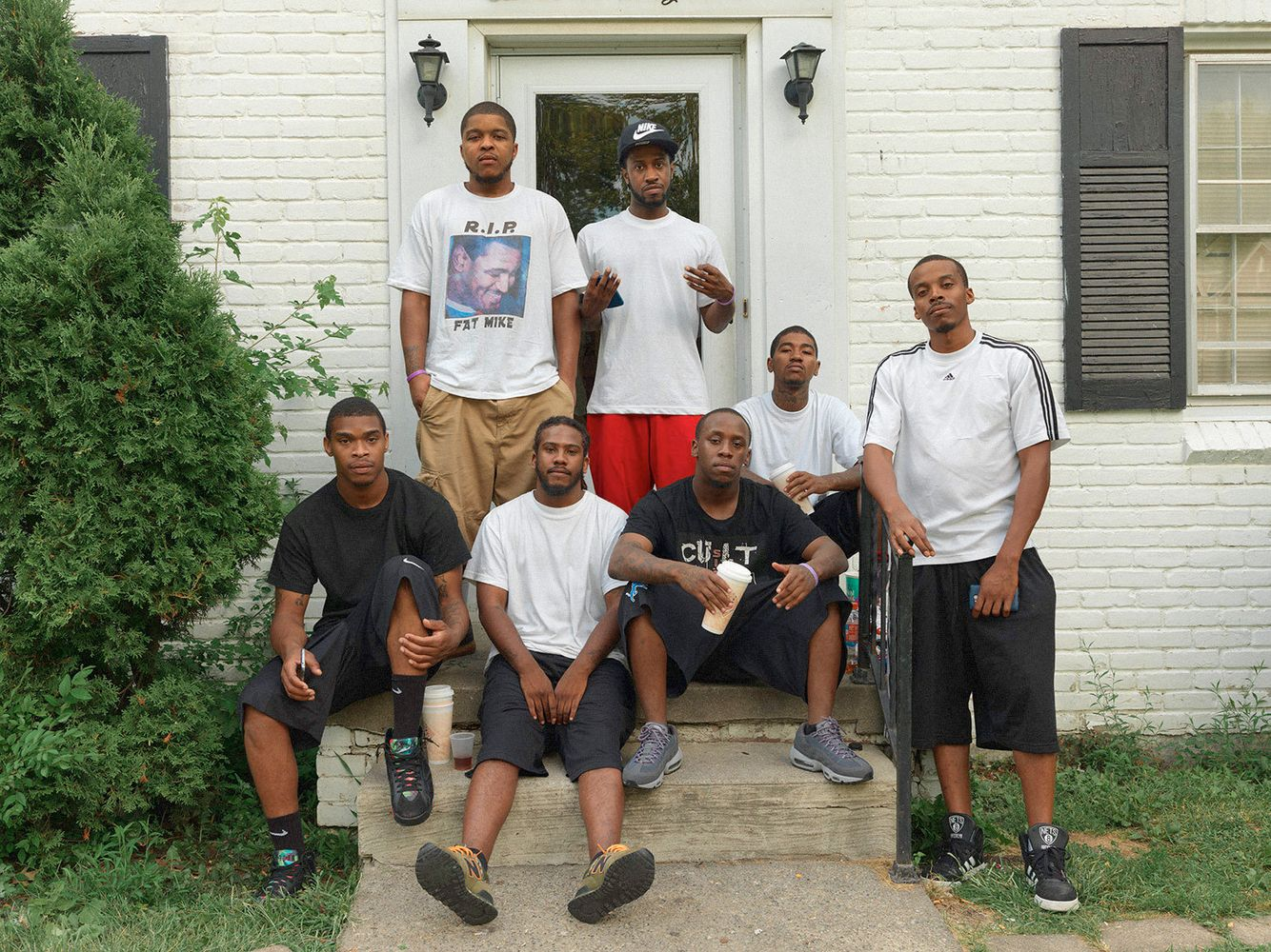 Brandon (in red shorts) celebrates his birthday with friends, Eastside, Detroit 2015