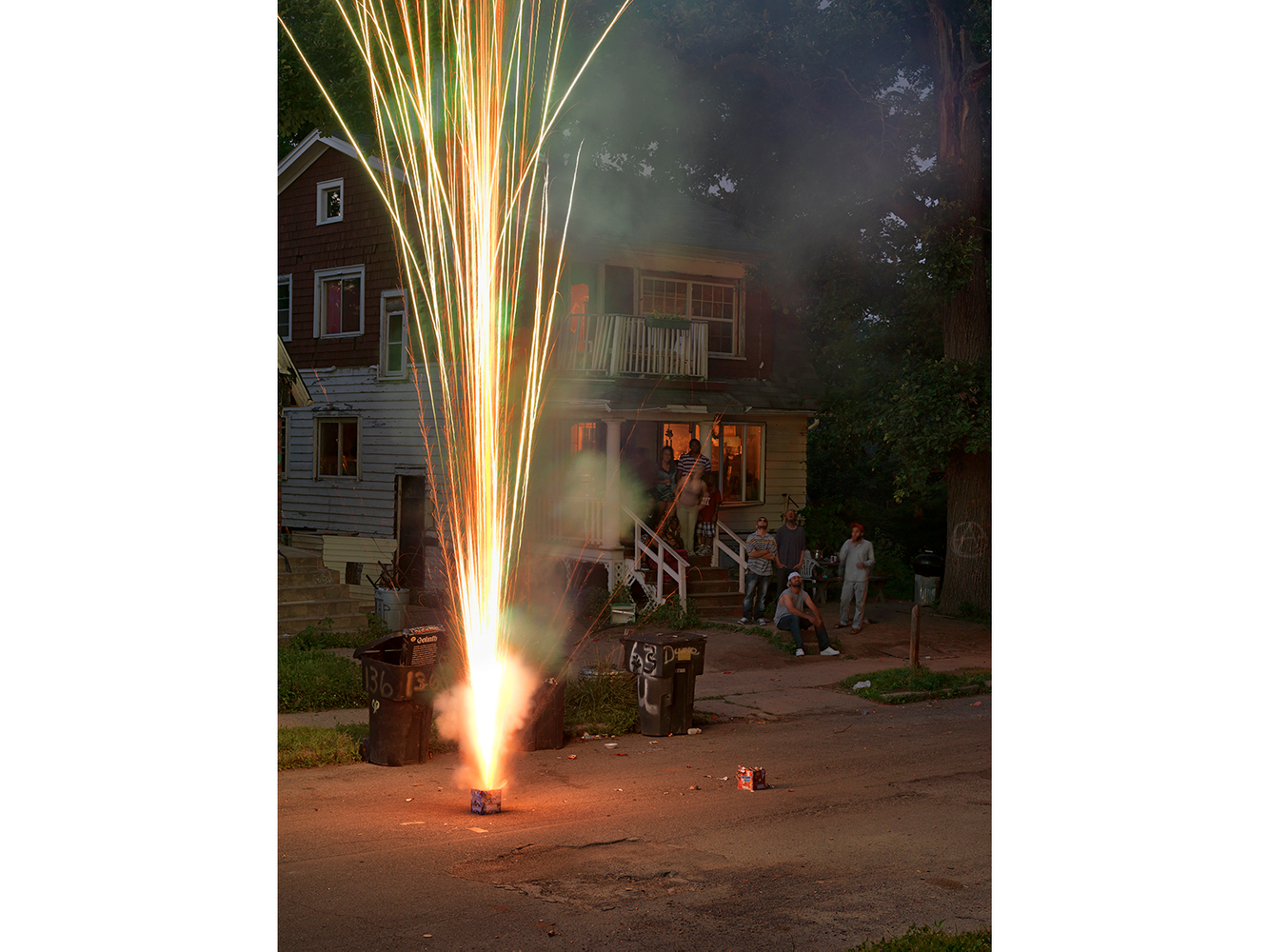 Neighborhood Fireworks on the 4th of July, Goldengate Street, Detroit 2014