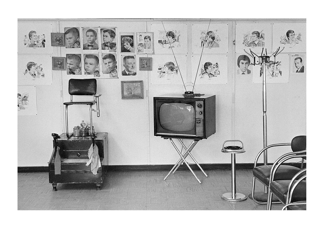 Interior View 1, John's Barbershop, 7179 Michigan Avenue, Detroit 1972