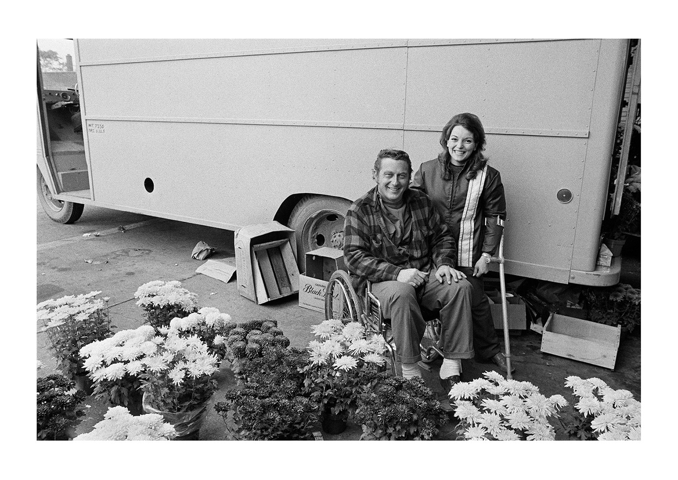 A Handicapped Couple Selling Flowers at Easten Market, Detroit 1972