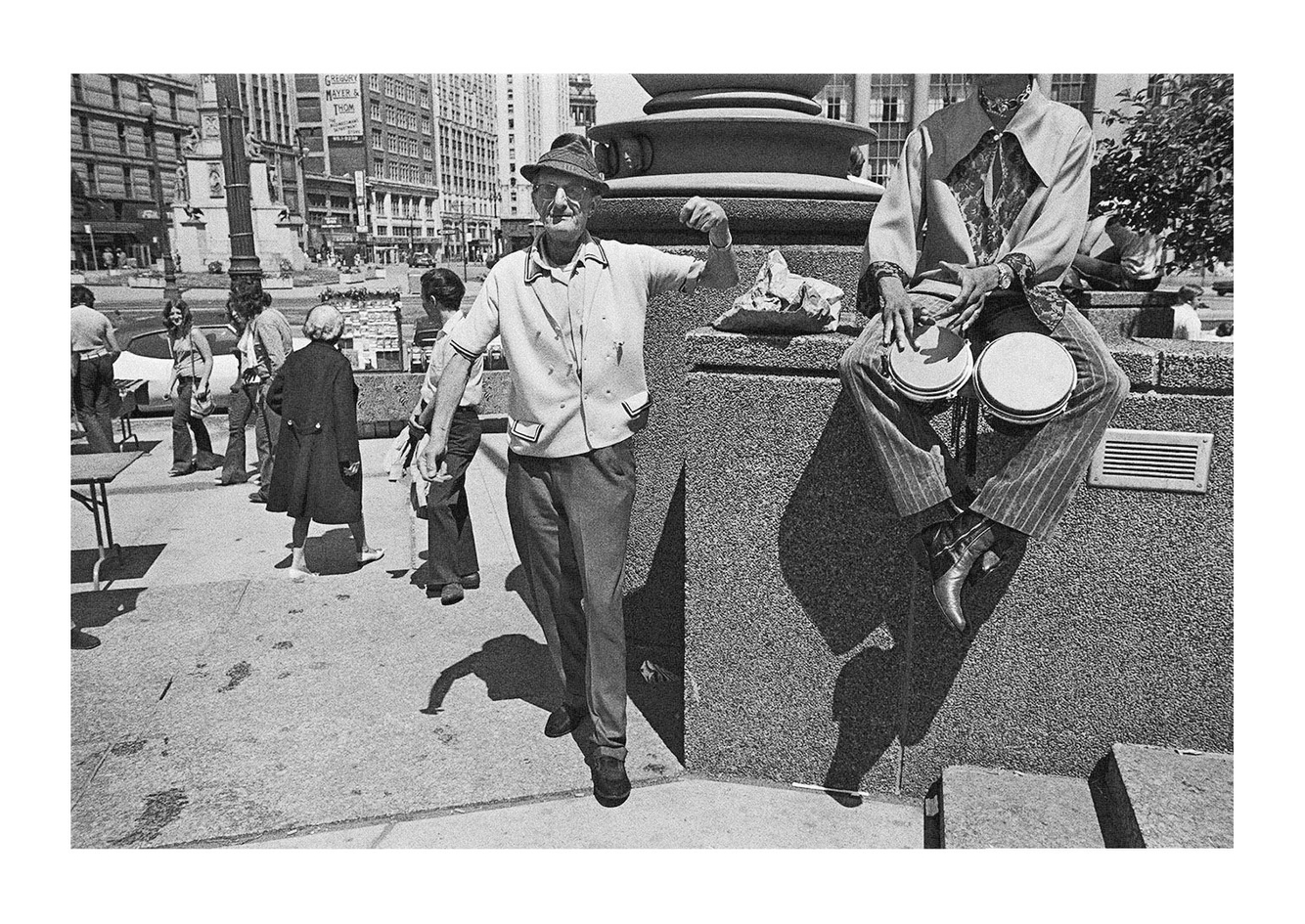 Man Dancing in Kennedy Square, Detroit 1972