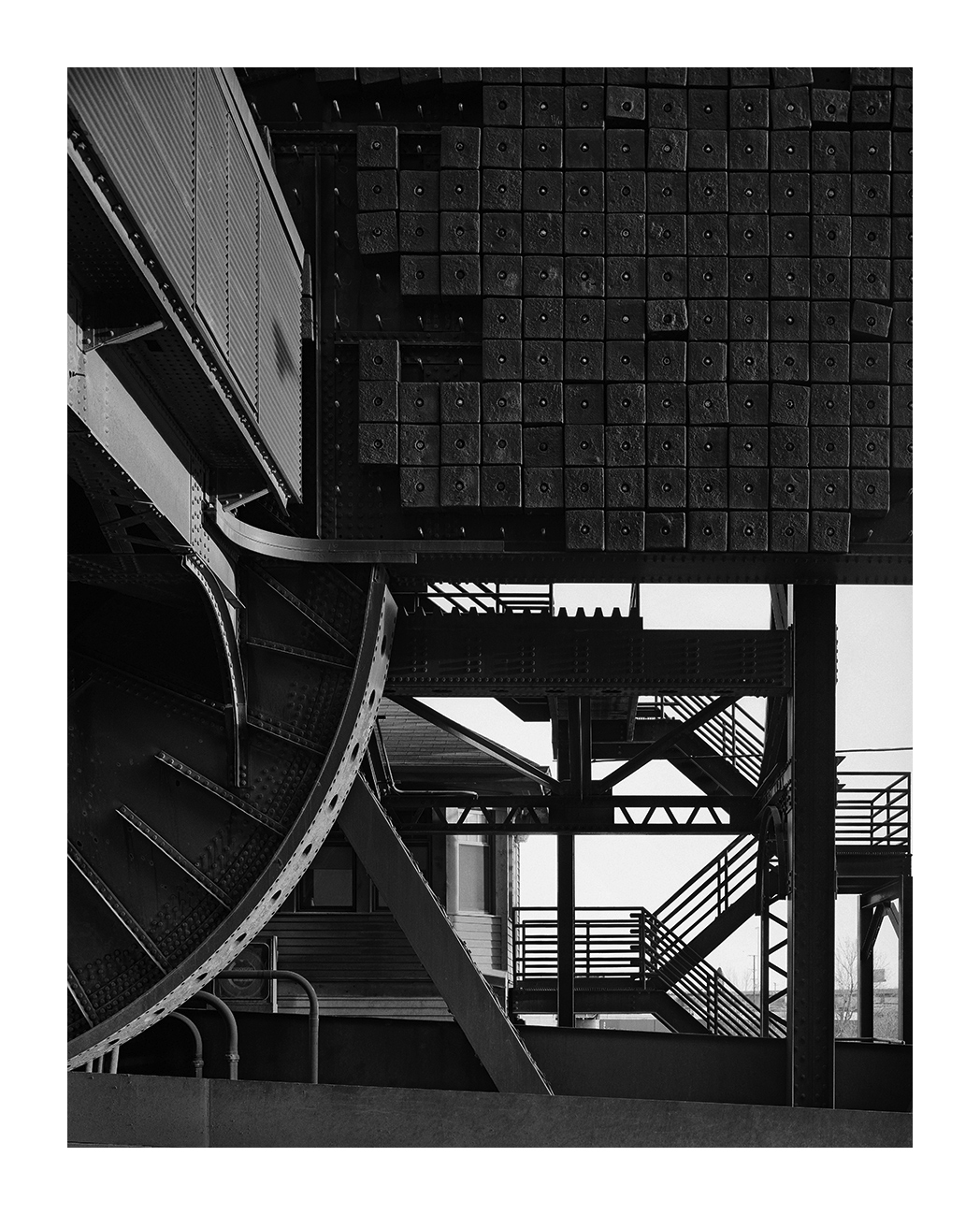 Counterweights, Cermack Ave. Bridge, Chicago 2001