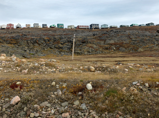 A row of  New Houses on the Plateau,  Iqaluit, Canada 2016