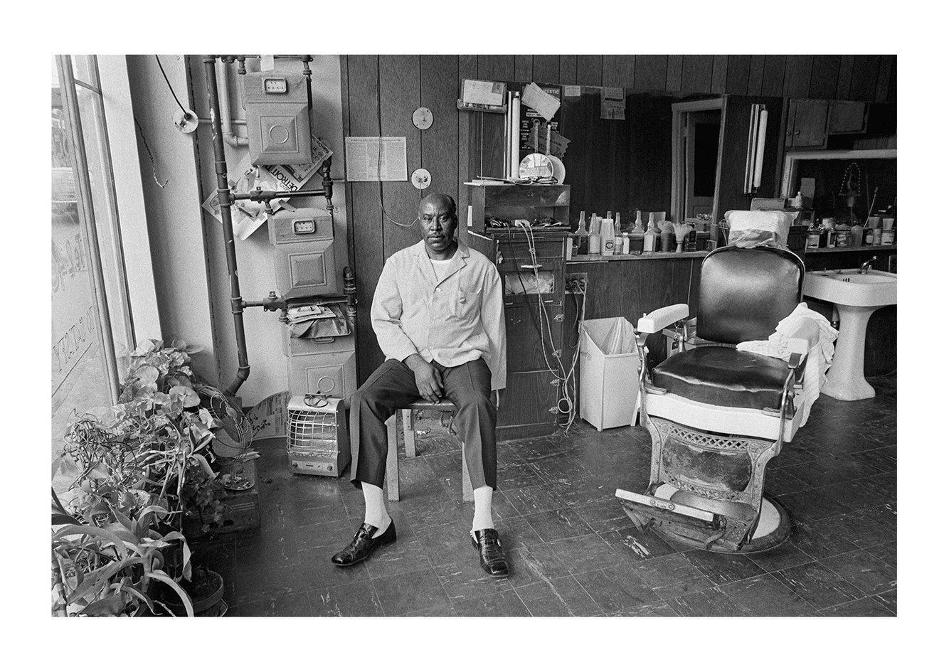 John Holt, Barber, Holt Beauty-Barber Shop, 3410 Brush St., Detroit 1972