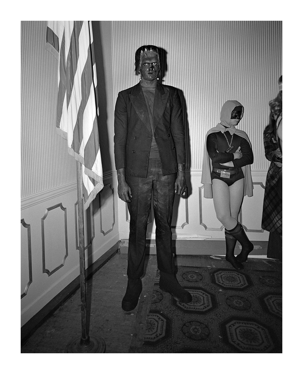 Man in Frankenstein Costume, Detroit 1973