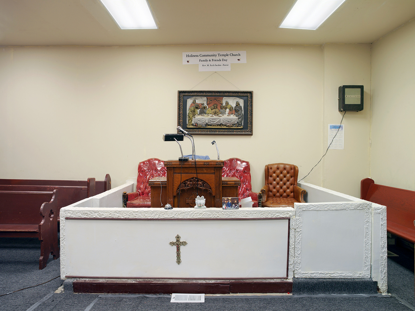 Pulpit, Holiness Community Temple Church, Chicago 2006 (former location)