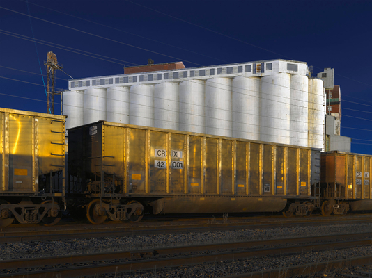 Rail Cars and Silo, Southside, Chicago, 2018