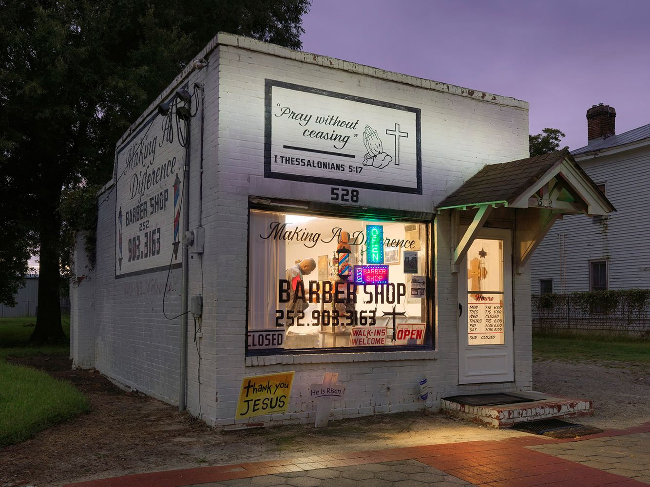 Making a Difference Barber Shop, Wilson, NC 2018