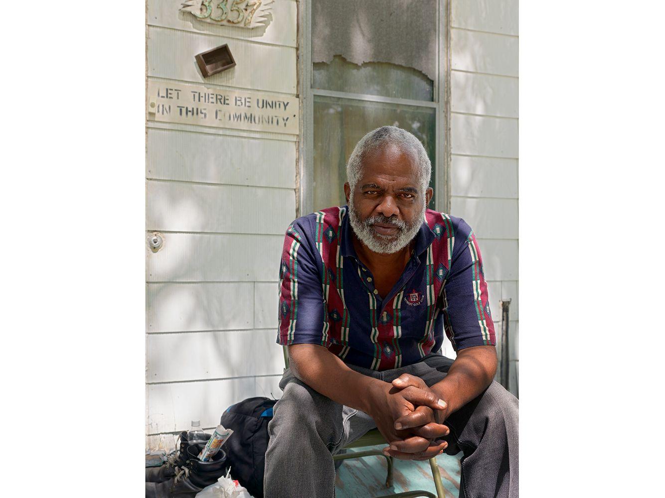 James on His Front Porch, Eastside, Detroit 2015
