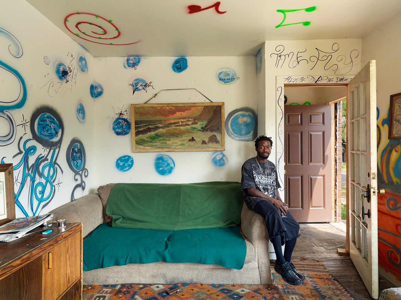 Beezy at Home, Goldengate Street Resident, Detroit 2012