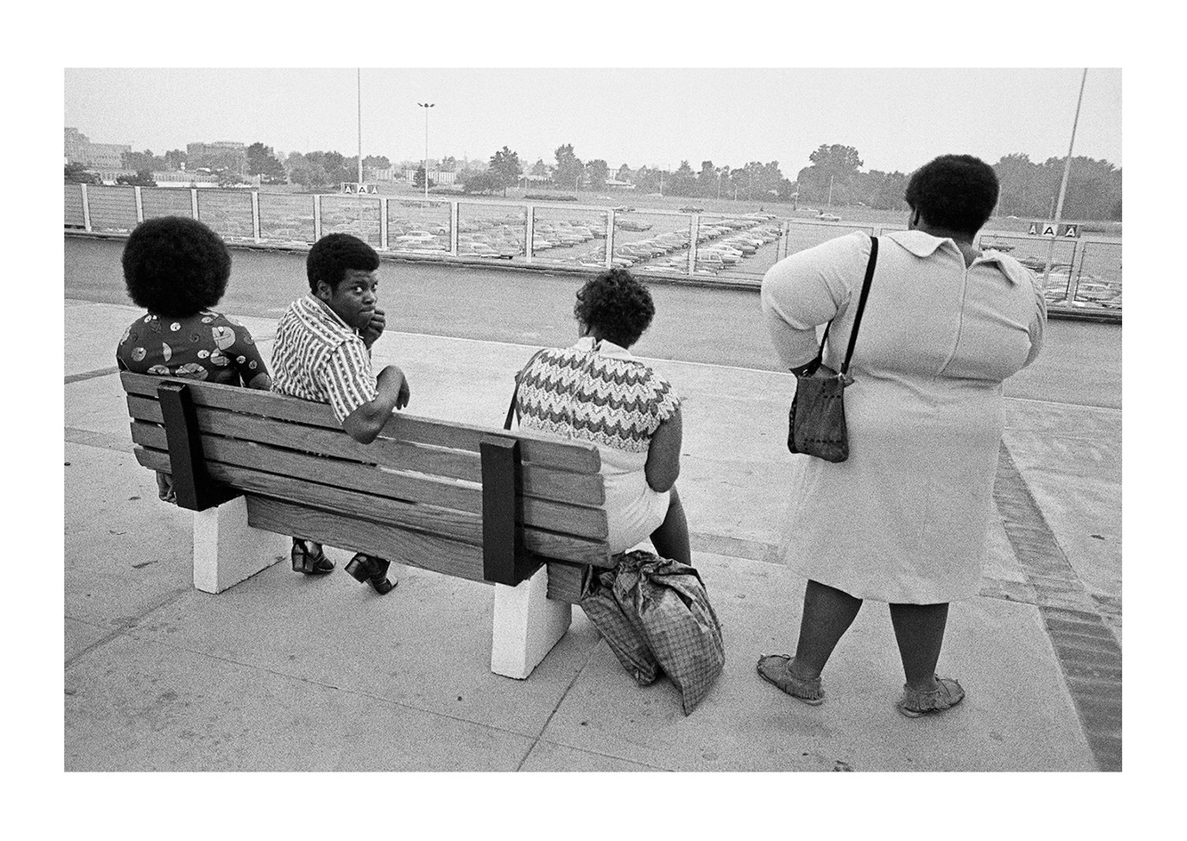 A group Waiting for the Bus, Detroit (Northland Shopping Center) 1972