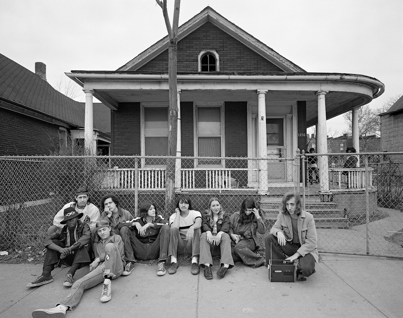 A Group of College Students, 1656 Bagley, Corktown, Detroit 1973