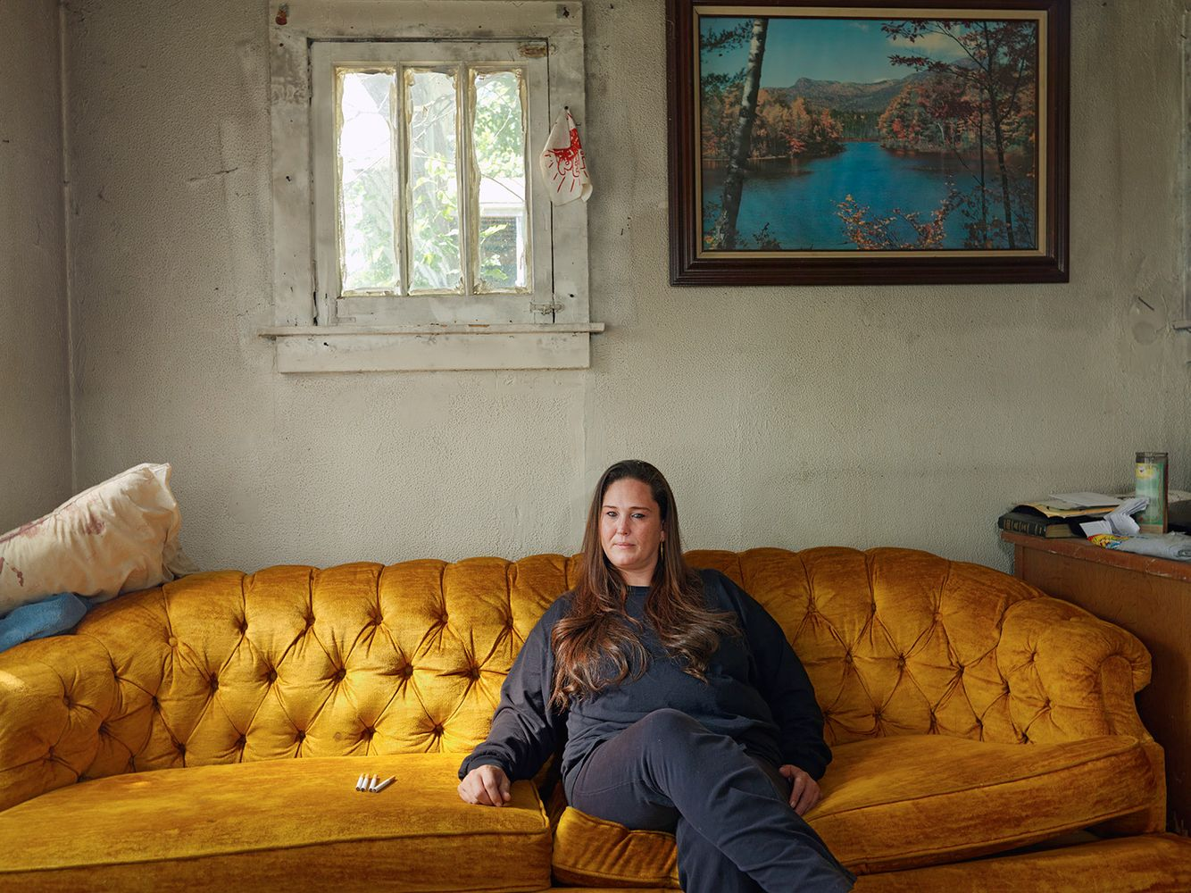 Patricia in Her New House with Her Cigarette Ration, Goldengate Street Resident, Detroit 2012