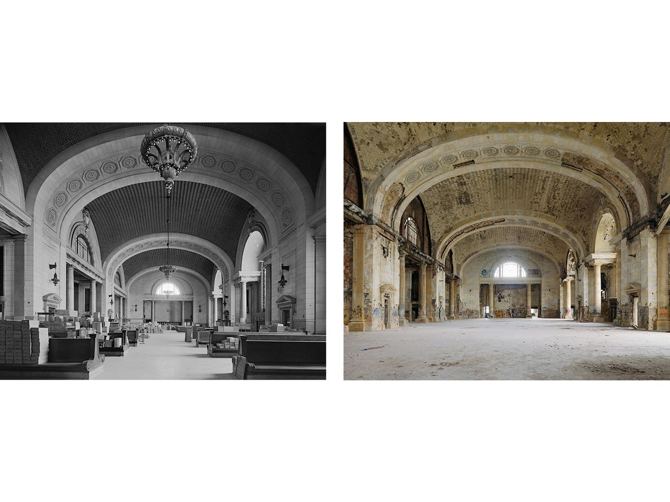 Great Hall, Michigan Central RR Station, Detroit 1973-2010