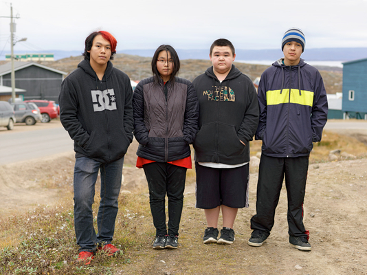 A Group of  Local Teenagers, Iqaluit, Canada 2016