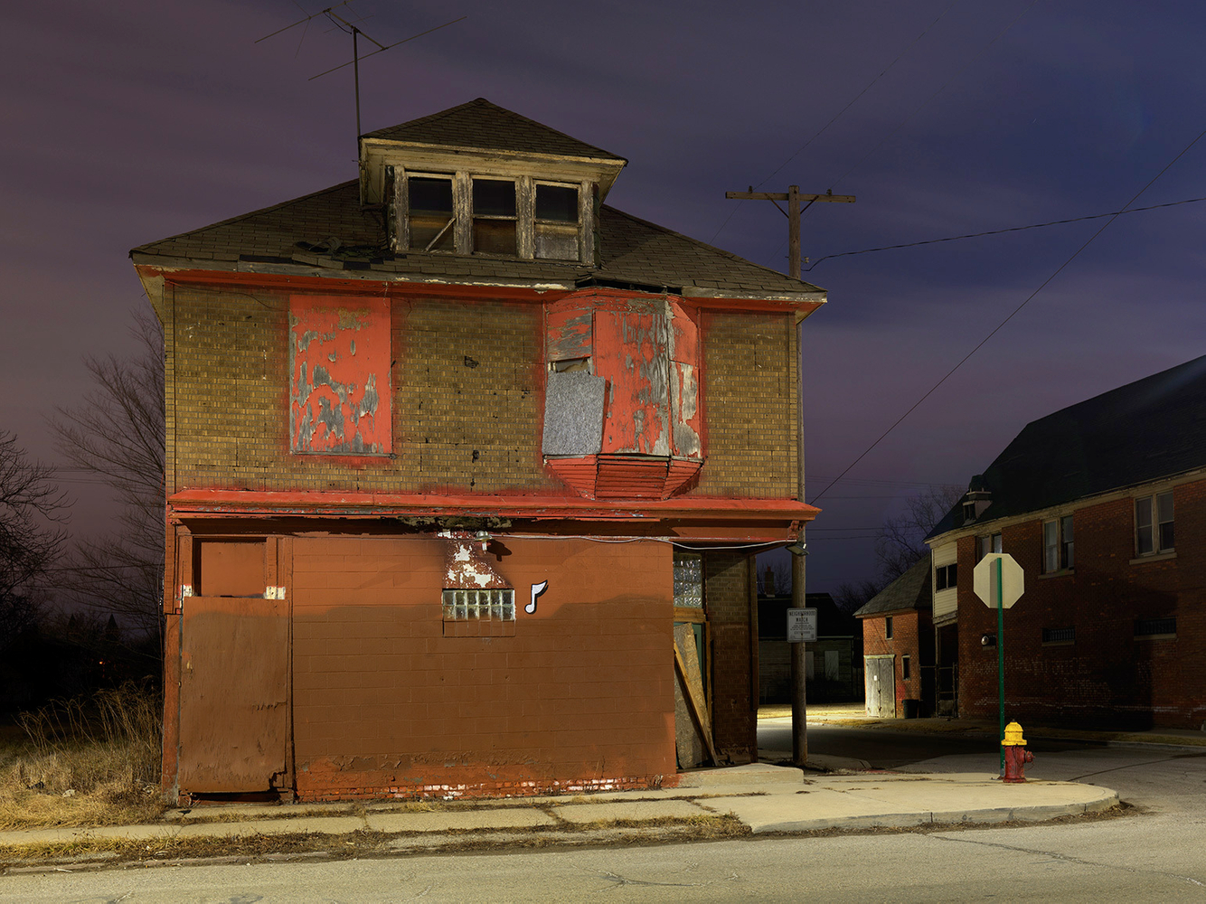 One Note House, Chene Street, Polsetown, Eastside, Detroit 2016