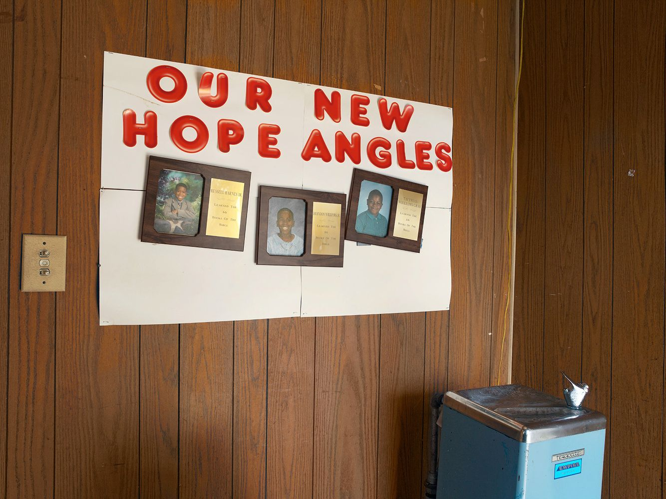 Plaques, Our New Hope Angles (sic), New Hope II M.B. Church 4924 S. Princeton, Chicago 2005