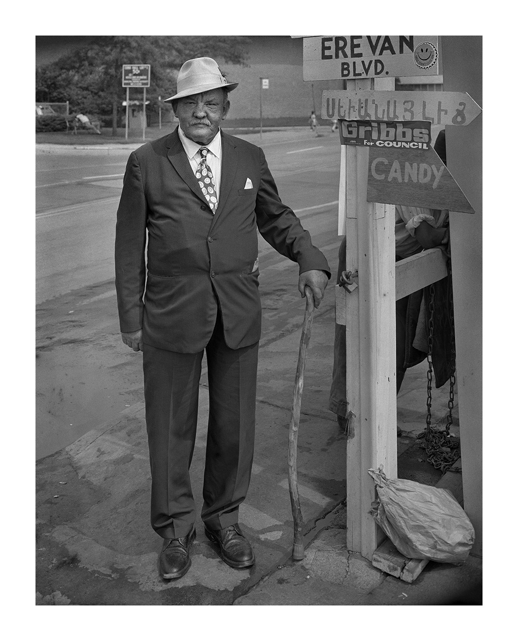 An Elderly Man with a Cane, Detroit 26 Aug 73