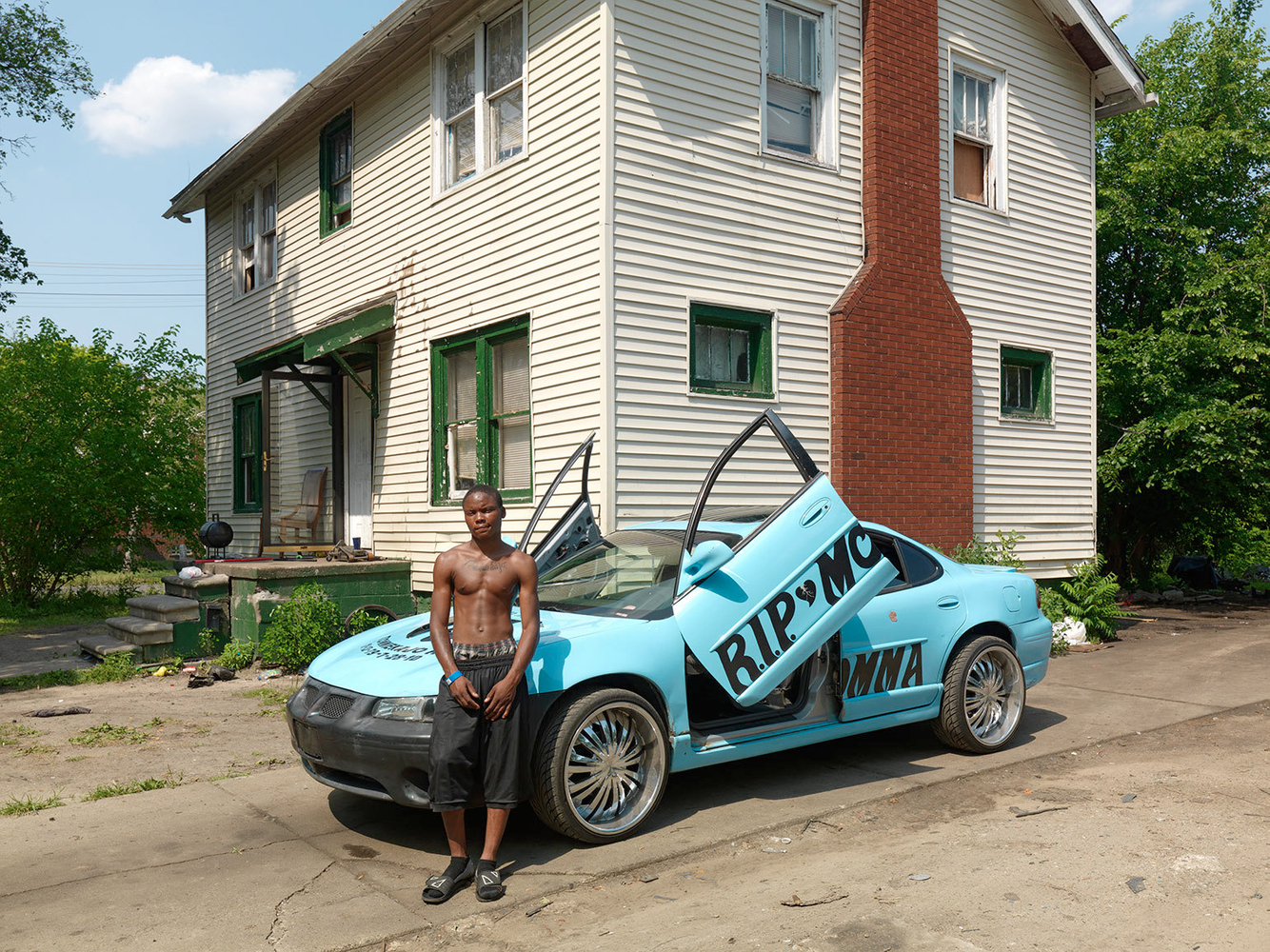 Bey-Bey with Memorial Car, Eastside, Detroit 2012